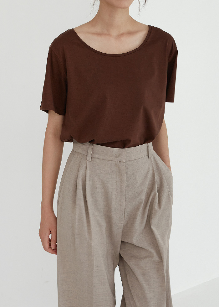 [cowood] Root wide t-shirt (brown)